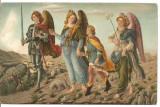 (A) carte postala(ilustrata)-PICTURI litho-Sandro Botticeli, Franta, Necirculata, Printata
