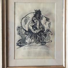 TABLOU, MARCEL CHIRNOAGA - Pictor roman, Natura statica, Cerneala, Altul