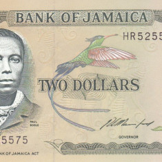 Bancnota Jamaica 2 Dolari 1993 - P69e UNC - bancnota america