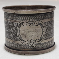 INEL de Servet argint MASIV splendid VECHI executat manual SPLENDID colectie RAR, Inel servetele