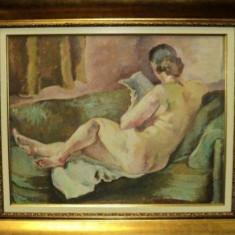 Lucretia Mihail Silion (n. 1895), Nud pe canapea - Pictor roman
