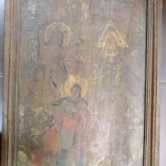 Icoana pe lemn, Sf. Treime, datata 1837 - Pictor roman