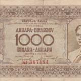 Yugoslavia  1000 Dinara  1.05.1946       P.67a     VF