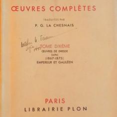 OEUVRES COMPLETES, VOL. X, TOME DIXIEME, OUEVRES DE DRESDE (SUITE) (1867 - 1875), EMPEREUR ET GALILEEN de HENRIK IBSEN, 1937 - Carte Teatru