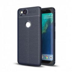 Husa silicon TPU Google Pixel 2 Litchi Bleumarin - Husa Tableta