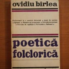 POETICA FOLCLORICA de OVIDIU BARLEA 1979 - Carte Fabule