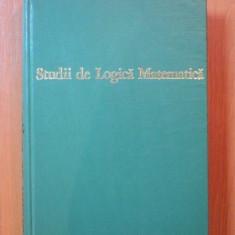 STUDII DE LOGICA MATEMATICA de wang hao, bUCURESTI 1972 - Carte Matematica