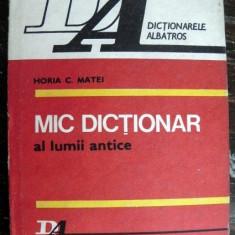 Mic dictionar al lumii antice - Istorie
