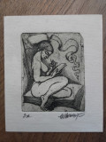 MARCEL CHIRNOAGA, GRAVURA, 17, Abstract, Cerneala
