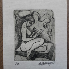 MARCEL CHIRNOAGA, GRAVURA, 17 - Pictor roman, Abstract, Cerneala