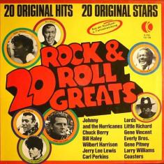 20 Rock & Roll Greats (1974, K-Tel) disc vinil LP compilatie rock'n'roll