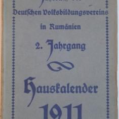 DEUTSCHEN VOLFSBILDUNGSVEREINS IN RUMÄNIEN, 2. FAHRGANG, 1911 - Carte veche