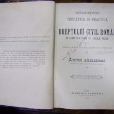 EXPLICAȚIUNE TEORETICĂ ȘI PRACTICĂ A DREPTULUI CIVIL ROMÂN ÎN COMPARAȚIE CU LEGILE VECHI de DIMITRIE ALEXANDRESCO, TOMUL AL VII-LEA (1901)