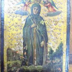Icoana pe lemn Sf. Eufrosina, Rusia, sec. XIX - Pictor roman