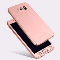 Husa fata-spate pentru Samsung A5 2017 ROSE-GOLD cu folie de protectie gratis - Husa Telefon Samsung, Samsung Galaxy A5, Roz, Plastic, Carcasa