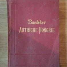 AUTRICHE HONGRIE Y COMPRIS CETTIGNE, BELGRADE ET BUCAREST, MANUAL DU VOYAGEUR PAR KARL BAEDEKER, TREIZIEM EDITION, LEIPZIG/ PARIS 1911 - Carte veche