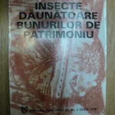 INSECTE DAUNATOARE BUNURILOR DE PATRIMONIU de MARIA MUSTATA, Iasi 1998
