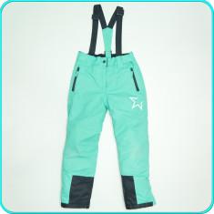 Pantaloni tip salopeta ski—iarna, impermeabila, YIGGA → fete | 8—9 ani | 134 cm - Echipament ski, Copii