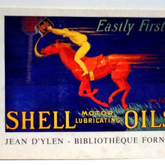 SHELL MOTOR LUBRICATING OILS, JEAN D' YLEN, BIBLIOTHEQUE FORNEY, 1938