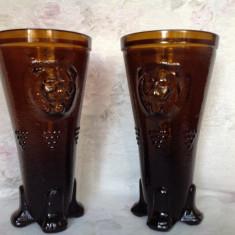 Pereche de vaze vintage din sticla - Vaza sticla