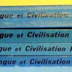 COURS DE LANGUE ET DE CIVILISATION FRANCAISES , VOL. I - IV par G. MAUGER , Paris