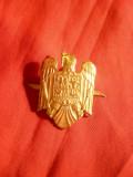 Insigna Militara Sapca - Stema Romania  h= 3,5 cm