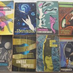 Lot 8 carti SF - editura tineretului (simbol racheta + stea) - Carte SF