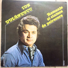 Ion dolanescu romante si cantece de petrecere disc vinyl lp muzica populara, VINIL, electrecord