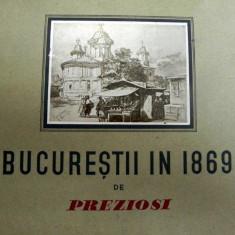 Bucurestii in 1869 Preziosi - Carte veche