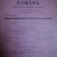 NOUA REVISTA ROMANA, VOL. XVII, 24 NUMERE 1916