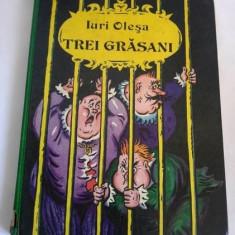 Iuri Olesa, Trei Grasani, Ed. Raduga-Ion Creanga-1987, cartonata, 175 pag - Carte de povesti