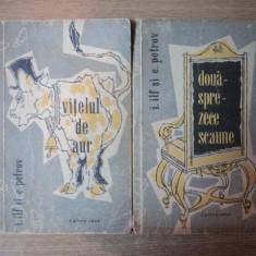 VITELUL DE AUR / DOUASPREZECE SCAUNE de I. ILF, E. PETROV, 1957 - Carte in alte limbi straine