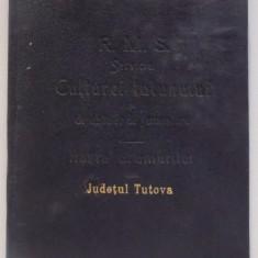 HARTA CAILOR DE COMUNICATIE DIN JUDETUL TUTOVA IN ANUL 1903 - Harta Romaniei