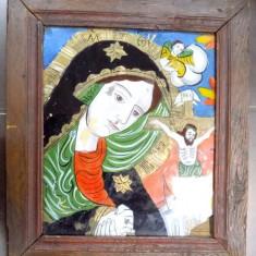 Icoana pe sticla, Maica Domnului indurerata, sfarsitul sec XIX - Pictor roman