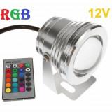 Spot LED Exterior RGB Lupa 10W 12V, Becuri LED