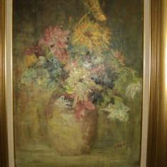 Ilie Arjoca, Vas cu flori - Pictor roman
