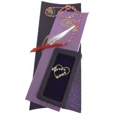 Martisor brosa Inimioara cu Cristale si suflat cu aur 24k