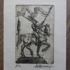 GRAVURA MARCEL CHIRNOAGA, 18 - Pictor roman, Abstract, Cerneala