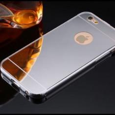 Husa slim tip oglinda ARGINTIE pentru iPhone 6 6S TPU 0.3mm ( SILVER ) - Husa Telefon Apple, Argintiu, Silicon