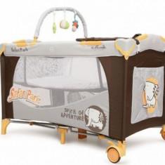 Patut pliabil Happy Baby 120 x 60 cm Safari Park Moni - Patut pliant bebelusi