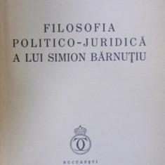 FILOSOFIA POLITICO-JURIDICA A LUI SIMION BARNUTIU de PETRE PANDREA (1935)