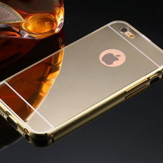 Husa slim tip oglinda AURIE pentru iPhone 5 5S 5SE TPU 0.3mm ( GOLD ) - Husa Telefon Apple, iPhone 5/5S/SE, Auriu, Plastic, Carcasa