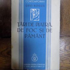 Tari de piatra, tari de foc si de pamant, Geo Bogza, Bucuresti 1939 cu dedicatia autorului catre Hedda Stern