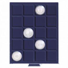 Tava SMART cu 20 locasuri patrate pentru monede/capsule de 41mm