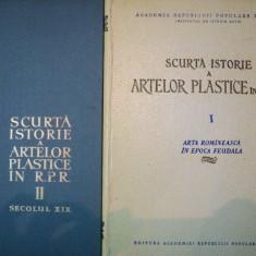 SCURTA ISTORIE A ARTELOR PLASTICE IN R.P.R. -SEC.XIX - 1957/ 1958 vol.I-II - Carte Istoria artei