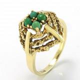 Cumpara ieftin Inel Aur 14K Vintage Pietre Jade Deosebit