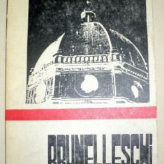BRUNELLESCHI-NICOLAE LUPU - Carte Arhitectura