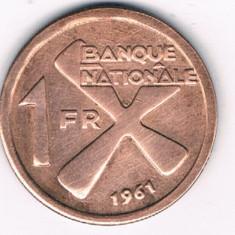 Moneda 1 franc 1961 - Katanga, Africa