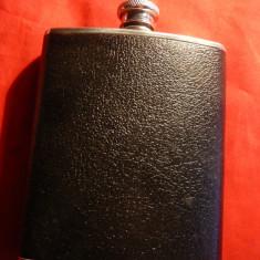 Sticla de bautura de buzunar - Anglia -Guaranteed hip flask -18/8 inox ,h= 13 cm