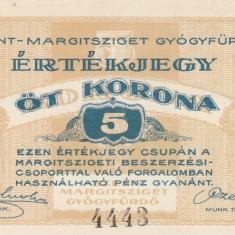 Ungaria  5  Korona   1919  Budapest- Sz. Margitsziget   P.NL  aUNC